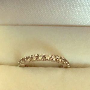 Jewelry - NATURAL WHITE SAPPHIRE BAND RING